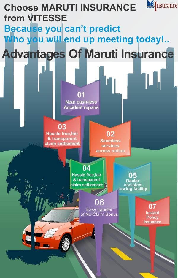 Choose MARUTI INSURANCE  from VITESSE Because you can't predict Who you will end up meeting today!..