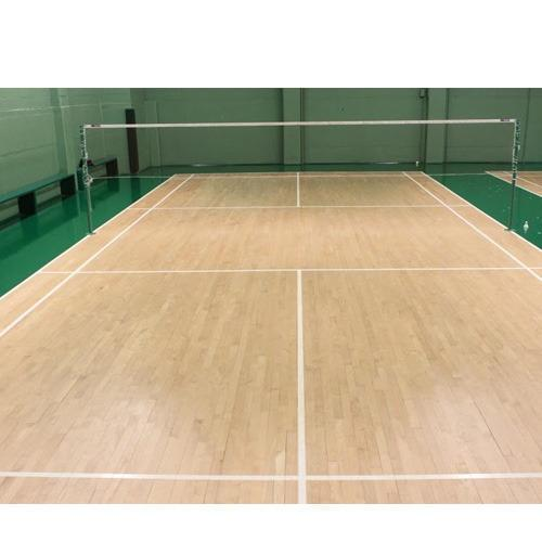 Air Cush Badminton Court Flooring  We Sundek Sports Systems are manufacturers of Air Cush Badminton Court Flooring in Mumbai.  As well as in India. Product Details: We Provides	Wooden Flooring, Vinyl, Synthetic and Rubber Flooring Provide AMC	No Service Location/City	India Other Available Services	Tennis Court Flooring, Basketball Flooring, Volley Ball Court Flooring, Squash Court Flooring, Gymnasium Flooring  Sundek Sports systems engage in offering Air-Cush Badminton Court. We offer Air-Cush Badminton Court in various dimensions and sizes as demanded by the client.We make use of kiln dried FSC certified imported Beech wood, teak, oak, maple, wooden surface board and the base frame is made from imported spruce, fir, or pine wood. This Air-Cush Badminton Court is polished with anti skid polish.