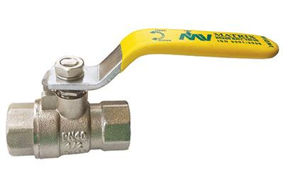 "Matrix Valves are well-known manufacturers and suppliers of Brass Ball Valves which are widely used in gas and oil industry across all the cities of India. It is available in two finishes: The nickel polish valve's size range is 1/4″ (8 mm) to 4″ (100 mm) and the brass polish valve's size range is from: ½"" (15 mm) to 2″ (50 mm). This brass ball valve is suitable for steam, water, gas and oil."