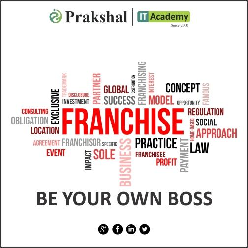 Start a Franchise in your city   partner with Prakshal IT Academy   The Best IT Training institute for Database Technologies   Mobile Application Development   Java Application Development   . Net Application Development . Prakshal Franchise Facts: ROI : 3 years   Break-even : 6 months   Area : 1500-2500 sq ft   Investment : above 15 Lakhs   Expansion: Across India. For more details: click on: http://www.prakshal.com/computer-training-franchisee.html email on: franchise@prakshal.com