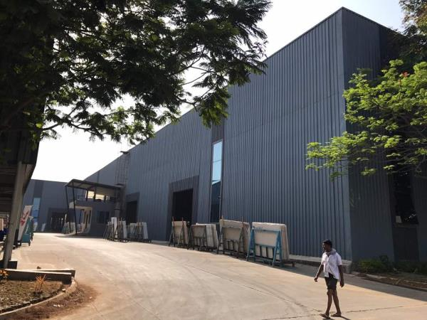 Designer industrial buildings. Color Coated sheets, profile sheets, bare Galvalume, blue color, Grey color, off white, pure white color, different color sheets are available and supplied as per requirement. We also supply purlins, downtake pipes, decking sheets, tile sheets, Flashing and accessories etc.