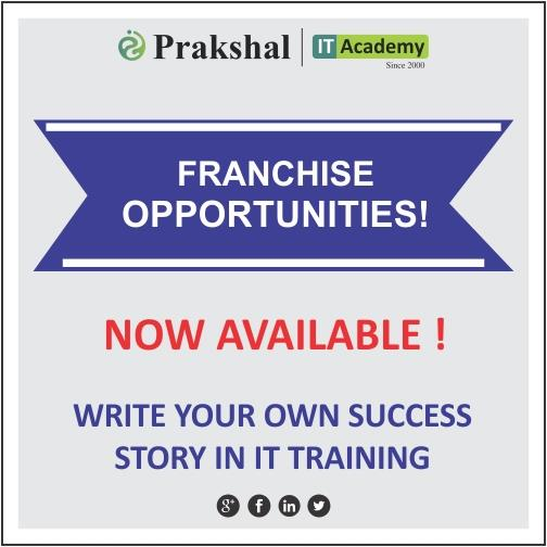 Computer Franchise opportunities now available across India with Low Investment and High Returns | Grab the opportunity to be a Part of a leading IT Training Organization as a Franchise owner | Join Hands with Prakshal IT Academy | The Best IT Training Institute for IT- IMS courses. Prakshal Franchise Facts: ROI : 3 years | Break-even : 6 months | Area : 1500-2500sq ft | Investment : above 15 lakhs | Expansion : Pan India. For more information: click on: http://www.prakshal.com/computer-training-franchisee.html
