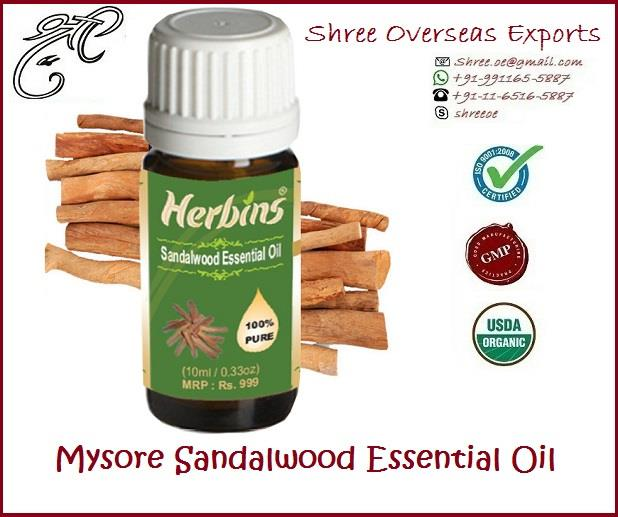 Organic Sandalwood Oil from Mysore India Santalum Album Sandalwood Oil id from Mysore(Karnataka), India and extracted from Santalum Album of Santalacease family and is also known as East Indian Sandalwood oil, Santal, Saunders and Sandalwood Mysore. Appearance : Viscous Liquid form Aroma : Woody, exotic smell Color : Yellow to Golden color Extraction Sandalwood Oil is extracted from the chipped heartwood by steam distillation Uses: 1. Sandalwood essential oil helps to moisturize and hydrate agening, dry or flaky skin, relieving itching and inflammation and its astringent action balances oily skin conditions.  2. Sandalwood is much popular in demand and has a calming effect during meditation.  3. The oil of Sandalwood is used externally in aromatherapy and is said to calm the mind and body.  4. It is also thought to help those who are suffering from stress and to soothe tension and anxiety. And many more NO MOQ, Take as much you need