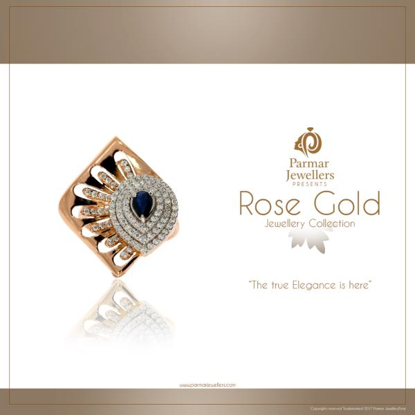 Superfinely crafted Rose Gold Rings Collection from Parmar Jewellers!