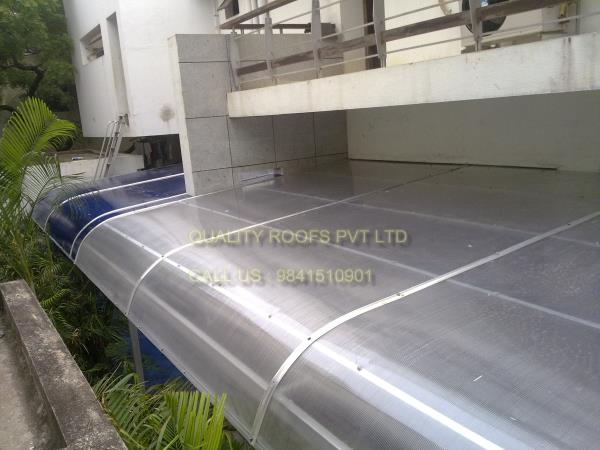 Polycarbonate Roofing In Chennai         We are the Leading Polycarbonate Roofing In Chennai. we undertake all kinds of Polycarbonate Roofing Works In Chennai like Car Parking Shades is widely used for covering spaces like terraces, shop fronts, and commercial waiting areas.  Polycarbonate sheds, Industrial sheds and all type of fabrications undertaken here. widely used for roofing of various structures. Offered products are cost effective in nature. we are the topmost of this industry we offered all kinds of Roofing Works like Roofing In Chennai, Roofing Contractors, Terrace Roofing, Industrial Roofing.. etc..,