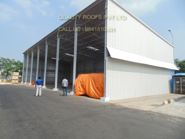 Factory Shed Roofing In Chennai         We are the top most of this industry and we are offer Factory Shed Roofing In Chennai. we are involved in manufacturing and trading Factory Shed in different specifications. Manufactured in accordance with the set in industry parameters, these durable and ruggedly constructed sheds are extensively popular. Factory sheds are widely appreciated for their high tolerance towards adverse weather conditions.  We are the best Galvalume Roofing Sheets In Chennai. we are the best Galvalume Roofing Sheet manufacturers In Chennai.