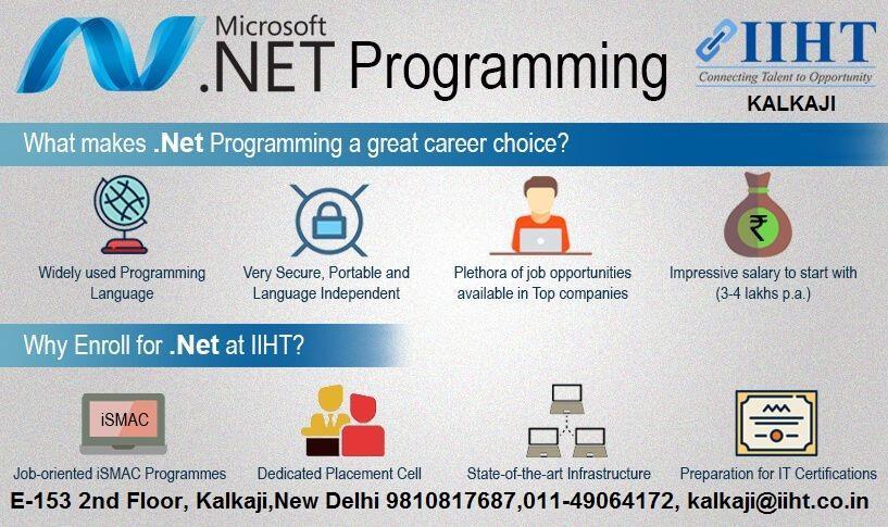 Microsoft Dot Net Programmers Iiht Kalkaji 9891003472 In New