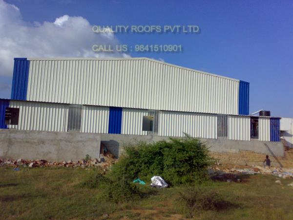 Steel Roofing Chennai    We are the bes Steel Roofing Chennai. We are manufactured under complete quality control system so as to make these deliver long lasting performance. Further, these are easy to assemble and dismantle and provide for short construction period as well as provide for long usage value. We are the leading Industrial Roofing Contractors In Chennai.