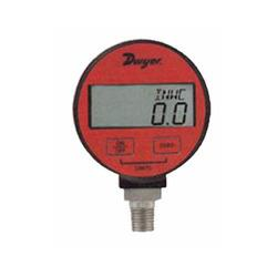Dwyer Digital Calibration Pressure Gauge: Product Details: Calibration Interval Yearly Product type Calibration Pressure Gauge Material Stainless Steel Accuracy +/- 0.05% Material grade 316 SS Dwyer Digital Calibration Pressure Gage with accuracy, Wetted parts and calibration capabilities. With accuracy and large 5 digit resolution, this gage can be used in a critical industrial application where precision is most important. Features : Highest accuracy provides an exceptional measurement for calibration minimizing costly out of specification condition. Stainless steel housing resists ambient corrosion for longer service life in harsh environments. Lightweight and slim, yet large easy to read battery powered gage make them easy to carry and read. Applications : -Field gage calibration -Permanent installation -Burnt disc testing -Torque data logging -Pressure regulator testing -To be used with the pressure pump for calibration