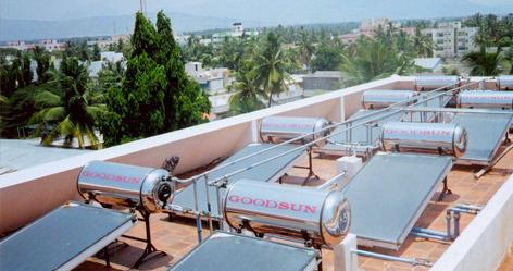 Solar Water Heater Manufacturer In Thoothukkudi Goodsun Industries are manufacturing With the aid of latest machinery installed at our manufacturing unit, we have been able to offer best in class Customized Solar Water Heater to our valuable customers. To maintain the unmatched quality of the offered product range, we have installed advanced testing tools at our state-of-the-art in-house quality testing unit. For timely delivery of the offered product range, we have established and maintained a huge distribution network. Features: Optimum performance Low maintenance Longer service life  Solar Water Heater Manufacturer In Thoothukkudi Solar Water Heater Manufacturer In Tiruchirappalli Solar Water Heater Manufacturer In Tirunelveli