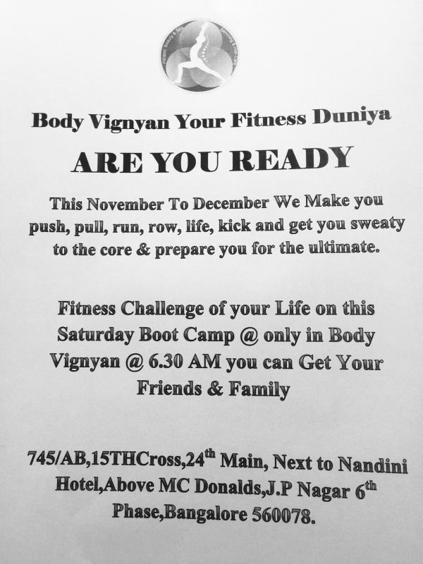 This Saturday We Have Fun Run With exciting workout a lot of fun only @ Body Vignyan Your Fitness Duniya join us with ur friends and family