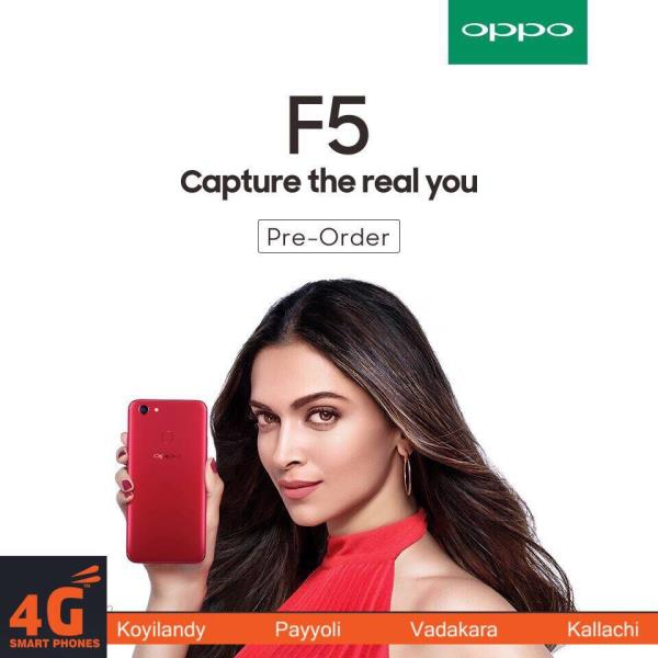 Introducing The All New OPPO F5 The Perfect Selfi Phone! Now Capture The Real You! Design That Beholds. Booking Started At 4G Smartphones. Pre Book Now!