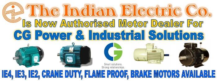 Crompton Motor Dealer, The Indian Electric Co. All Types of Crompton Motor Available. IE3, IE2, Crane Duty, Flame Proof, Brake Motors Available.