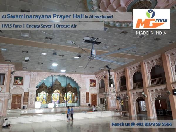 Searching For Huge Fans for Auditorium, Conference Halls, Prayer Hall or Fans for Larger Space ? We MG Fans are the Pioneer in Manufacturing Superior quality HVLS FANS in India.  For More details and Inquiry Drop your Message Below or Call us now