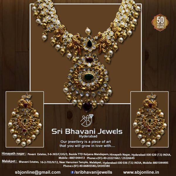 Adorn our jewels which make you a class apart!  #ExquisiteartworkjewellerySBj  - Team SBj For more info visit us at www.sribhavanijewels.in
