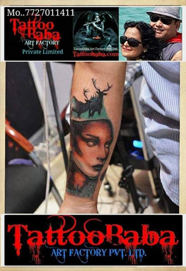 Tattoo Art work recently done at Tattoobaba. Best Tattoo Studio  Tattoo in Jaipur  Maa Paa tattoos Cover-up tattoos  Religious tattoos  Birds tattoos  Feather tattoo  Tattoo Art Recently done at Tattoobaba studio Jaipur ..... Call Tattoobaba.... 7727011411