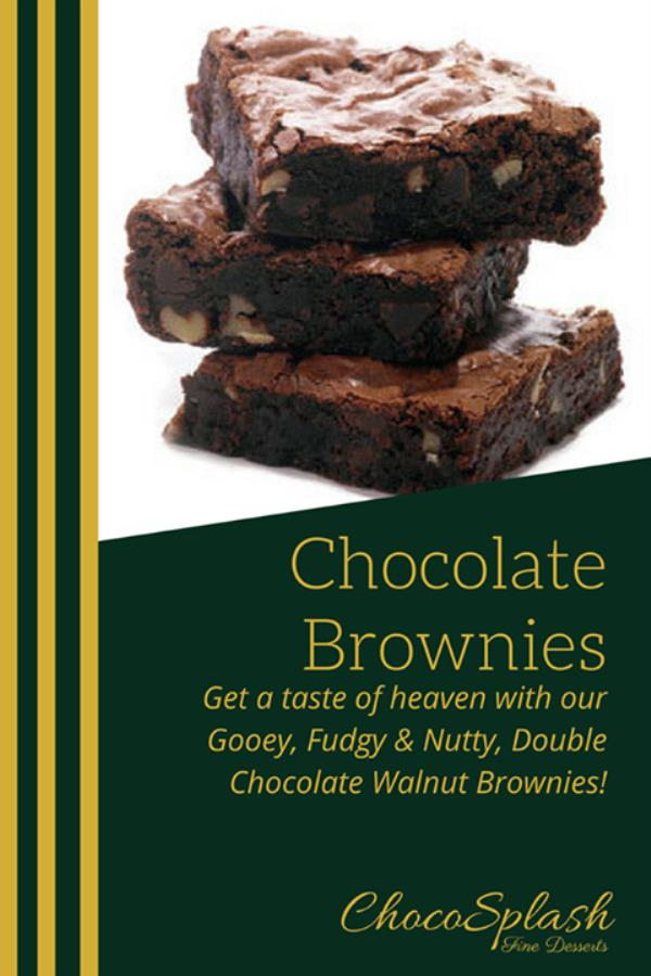 A Brownie a day, Keeps the Frownies Away! So Keep Calm & Have a Brownie. Give us a buzz for this slice of heaven! Please do Like & Share the ChocoSplash Page. - by Game On Sports Bar, Hyderabad