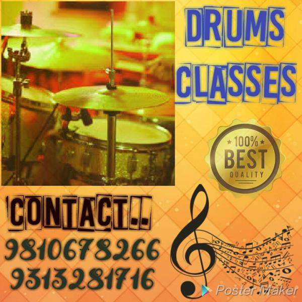 Best Drums Classes In South Delhi.  Learn Basic Till Advance Level. Learn to Play Drums on Hindi Songs, English Songs, Jazz Drumming, Rock Drumming, Pop, Blues and Metal Drumming from Beginning to Expert Level.