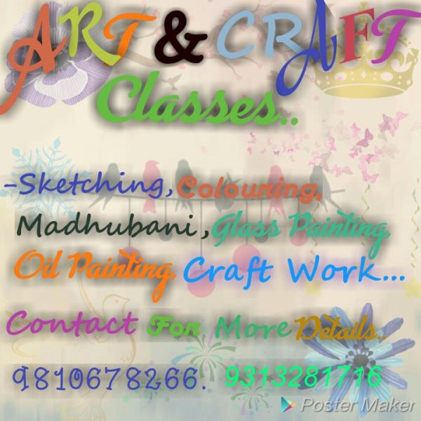 Best Art & Craft Classes In South Delhi.  Highly Qualified And Professional Artists Available To Train You. Pencil Sketching To Colouring, Oil Painting To Colour Painting And More Interesting Art Related Courses Can Be Teach.