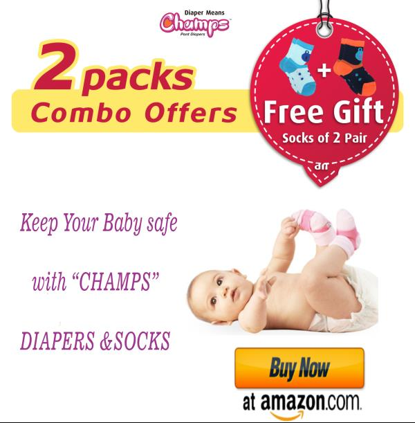 Free!! Free!! FRee!!   Free gift Offer!!   Combo Deal!! Buy CHAMPS DIAPER AND GET BABY SOCK FREE!!   Grab the Amazing OFFER @ amazing site:  Click Here    Hurry!!! before it Ends!!!!!!!!!!!!!!!!!!!   To buy please click below link:    Click Here  page=3& keywords=champs+diapers& ie=UTF8& qid=1512124020   for more inquiry please contact below:   E-mail: wecare@safilocare.com   Contact: 08079444679   whatsapp: +91 7573040437/39   Diaper|free gift| diaper with socks|champs diaper combo offer| deal of diapers| pant style diapers| manufacturer| OEM| bulk diapers| diapers in india| best diapers| diapers in facebook| diapers in linkdIn|| Diapers in tweeter|