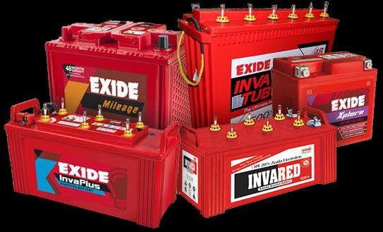 Exide Automotive Battery Dealer Exide Four Wheeler Battery dealer Exide is a leading name in the Automotive Batteries market with the Company supplying batteries to most car and two-wheeler manufacturing the country. In addition to four wheeler batteries.