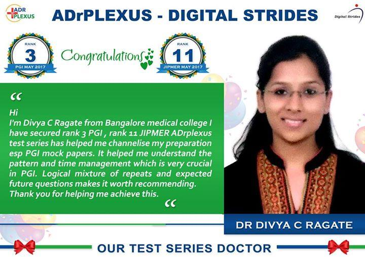 ADrPlexus Digital Strides Salutes Toppers of Nov 2017 Central Institute Exams