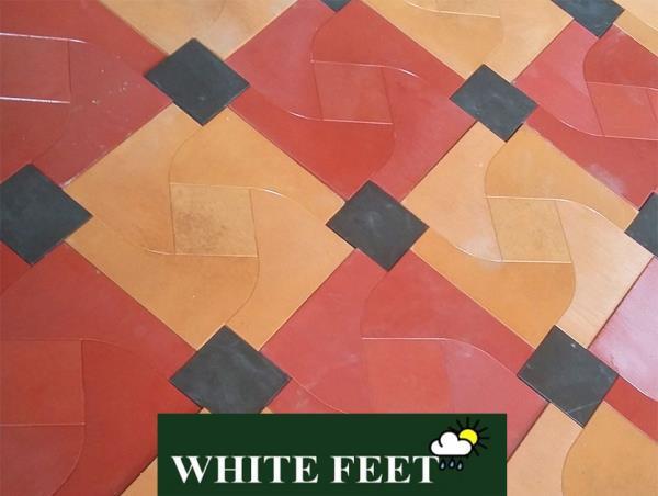 WHITE FEET - floor tiles,
