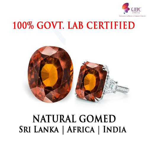 Natural Gomed in Lajpat Nagar Delhi  Gomed is the Indian name for the Gemstone Hessonite which originates from a calcium aluminum silicate. It is usually reddish orange or yellow orange..The gemstone takes its chemical composition from grossularite.The stone or ring can be detoxified by dipping it in water overnight. The popular names of a Hessonite are Gomedak, Gomed, Gomedh, Pingasphatik, Tamomani, Rahuratna, Tranavar. In English it is known as Cinnamon-Stone.  Found In : Brazil, India and Sri Lanka are the chief sources for Hessonite Gemstone production in the world. Characteristic : Hessonite Gemstones are usually reddish orange or yellow orange.Gomed Gemstone will also get corroded if ammonia or vinegar is used to clean it. Planet : The Gomed Gems are connected to the Vedic planet Rahu that impacts a person's mental and spiritual equilibrium. Astrological Benifits : It removes depression, obsessive thinking, skin and mental problems and also energize a person into thinking new ideas, and re-inventing a more refreshing way of life. Finger to be worn on : It should be worn in the center finger of the working hand. How to wear : Make in silver andwear iton Saturday during the Shukal Paksha near sunrise time.
