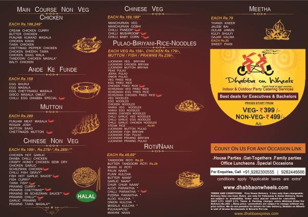 Chennai Dhabba Sachin ka Dhabba offers