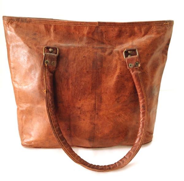 Leather Shoulder Bag BUCKET Handbag 100% Pure Leather and green canvas insideLeather tote bag, Handmade leather bagVintage goat Shoulder bag