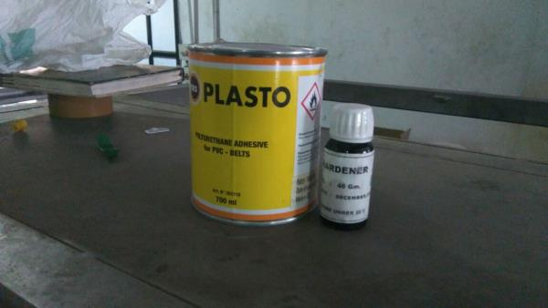 Imported Plasto PVC belt solution and hardner compound