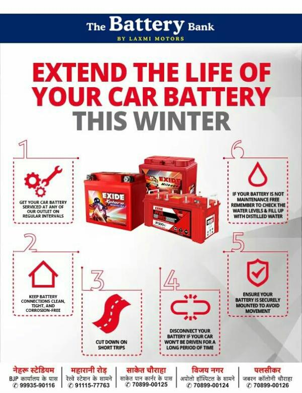 Car Battery Four Wheeler Battery Automotive Battery Car Battery Dealer Batteries are a lot like people in winter; they like to stay warm and be fed regularly to keep their internal chemical reactions happy, even if they're getting less exercise. Your car's battery needs its own care routine. Know more here: