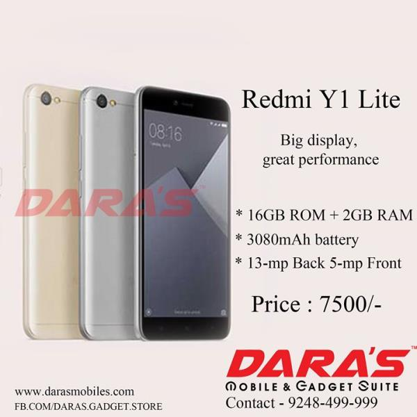 #Big_Display, #Great_Performance  #Redmi_Y1_Lite is Available at DARAS