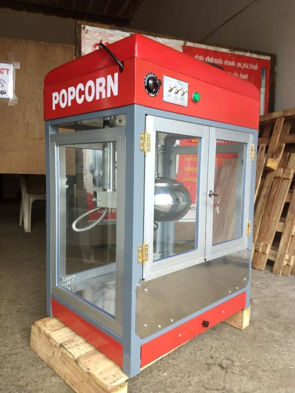 POPCORN MACHINE: Model No  TT-450 G-Tech Is Also Manufacturing Of Popcorn Machine, TT-450  Is Commercial Popcorn Machine Capacity Of The Machine Is 450gms/ Batch in 3 Minutes, This Unit Also Has Less Noise Motor, So Customers Won't Be Distracted While Machine In Running.   Salient Features # Strong And Attractive Cabinet # Stainless Steel Bottom Of The Cabinet # Control Panel With 5 Switches # Automatic Kettle