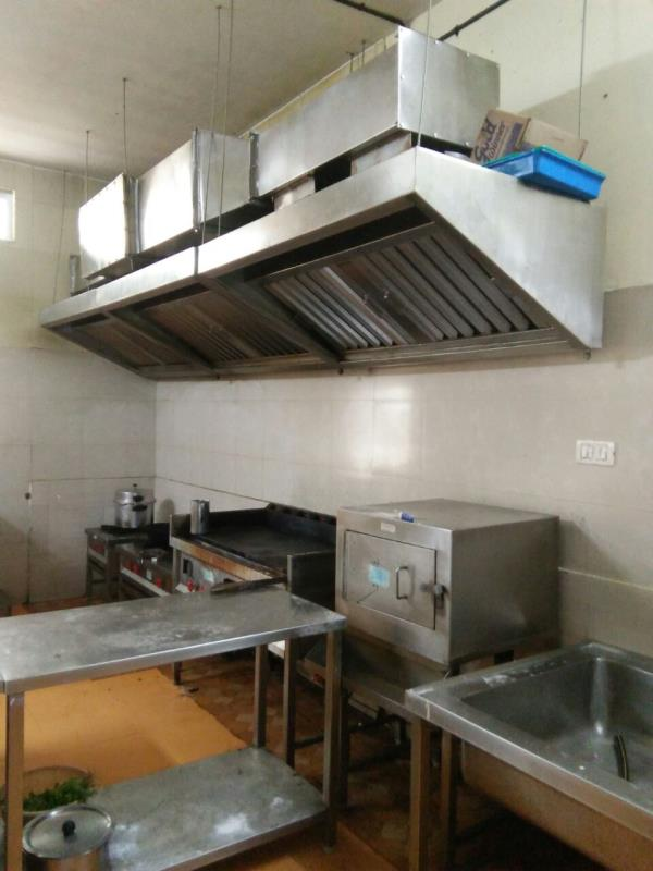 Complete Kitchen Equipment Solution Given At Reckitt Benckiser Ltd, Staff Canteen, Hosur. Stainless Steel Exhaust Hoods, Stainless Steel Ducts, Exhaust Blower, Stainless Steel Canteen Equipments