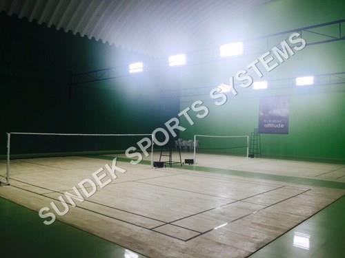 Badminton Court Renovation  We Sundek Sports Systems are manufacturers of Badminton Court Renovation in Mumbai.  As well as in India. Product Details: Court Area Outdoor Number of Courts As Required Stadium Required No Court Type Clay Court We expertise in Badminton Court Renovation in India. With our state of the art manufacturing unit and our extensive research, we provide turn key solution for renovating your Badminton Court and making it as good as new. We undertake the following under Badminton Court Renovation: Sundek Air Cush Wooden Flooring Sunplast Hard Plaster System Sundek Glass Back Wall Sound Board Game Line Marking .