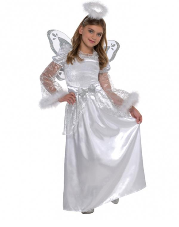 Angel Costume avaialble for Kids & adults. Perfect for Christmas, Halloween costumes and historical skits  Child size small designed to fit ages 4-12 & Adults also. call us @ 9392111995