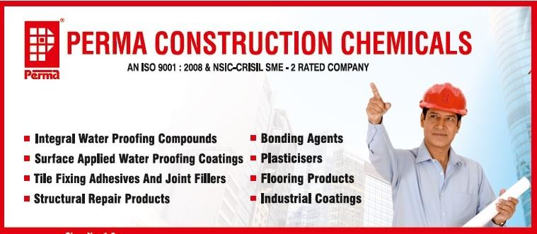 "We are Construction Chemicals Manufacturer in the Brand name of PERMA, We also supplying, and exporting a various chemicals which is used to complete the building construction which includes Waterproofing Chemicals , Tile Grout , Tile Joint Filler , Floor Hardening Compound , Plaster Putty , Micro Concrete For Concrete Repair, Latex SBR for Waterproofing etc.     PERMA CONSTRUCTION AIDS PVT. LTD. is an ISO 9001, 14001, OHSAS 18001 certified Company, for design, manufacture and supply of Construction Chemical products in India & abroad under the brand name ""PERMA"". The Company also has a rating of          SME – 1 awarded by CRISIL which describes the financial strength of the company.  Our Mission : PERMA the name has been coined to signify PERMANENCE. The objective of the group is to offer PERMANENT SOLUTION to the construction industry through state of the art construction chemicals.  You can get full information on www.permaindia.com & www.permaindia.biz"