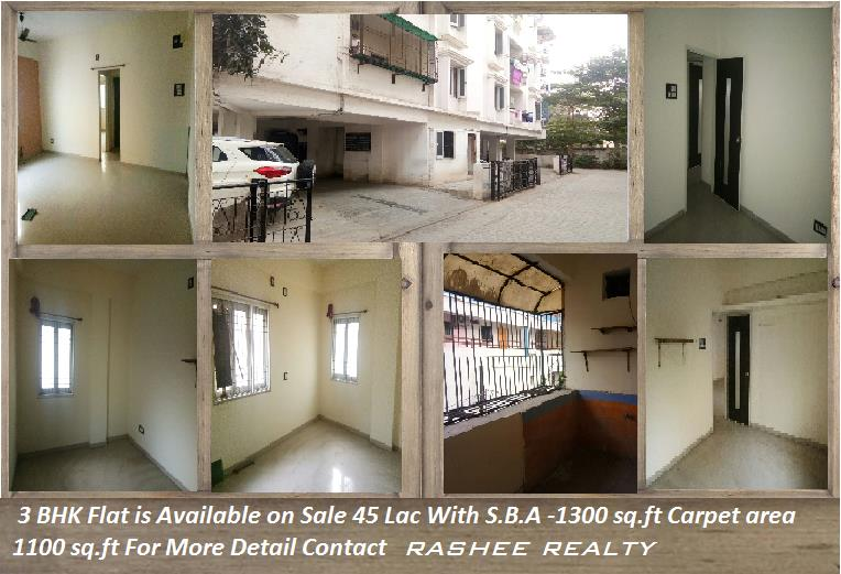 3 BHK Flat is Available O