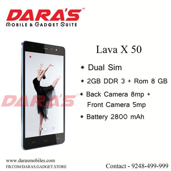 #Lava_X_50 #DDR_3 + #Rom_8_Gb Available at DARAS