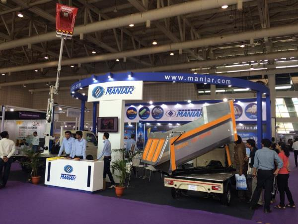 Truck and Trailer Expo at Gandhinagar. Displayed 180 degree rear tipping tipper. Made from high tensile steel.