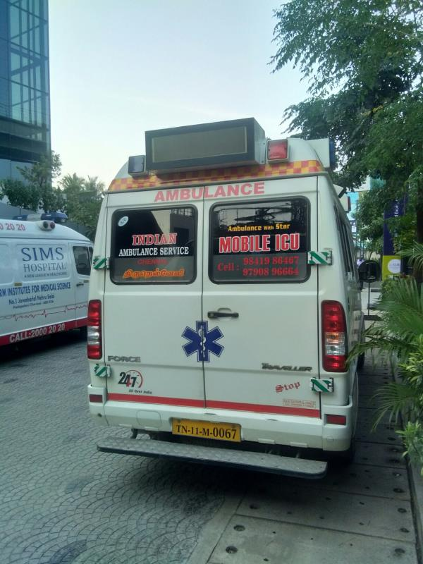 Indian ambulance service Chennai  Ramapuram Cell no 9841986467