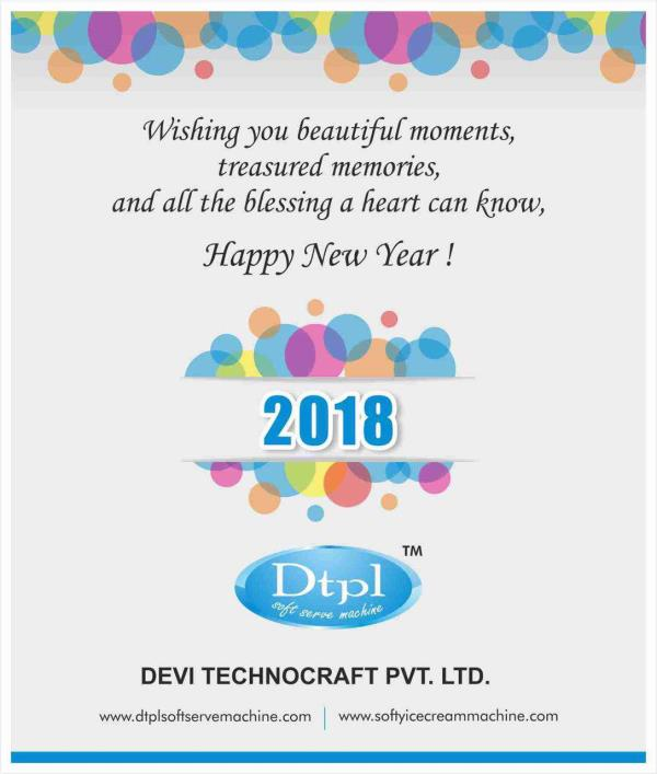 Dtpl softy ice cream machine manufacturer wishing you all Happy New Year