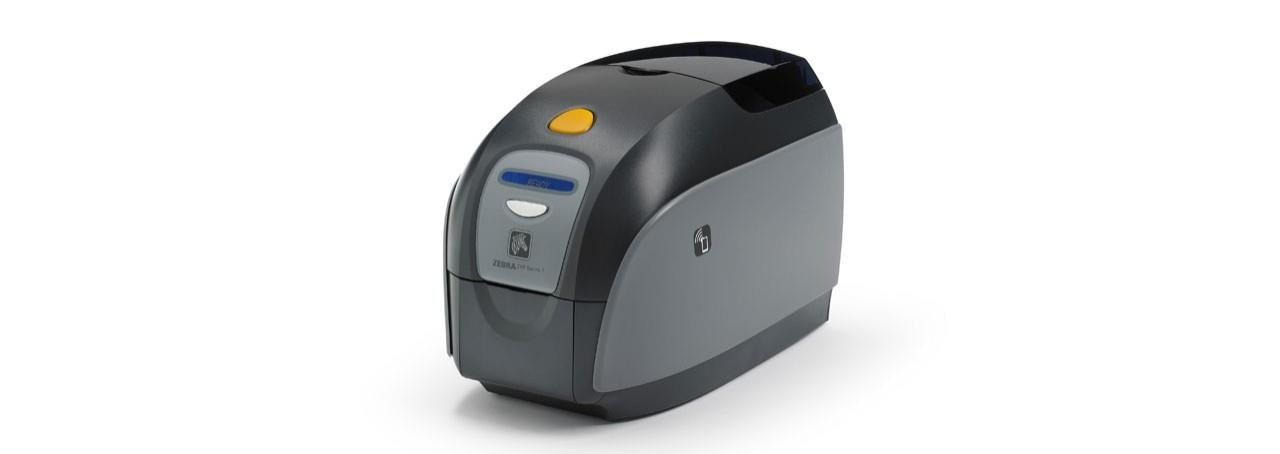 Zebra ZXP Series 3 ID/ PVC Card Printer.  Two-sided (duplex) card printing • Color and monochrome printing • Reloadable supply cartridges with drop-in cleaning roller • Automatic 100-card input hopper (with exception card slot),  and 25-card output hopper • Optional 200-card input hopper and 100-card output hopper • SDK support for third-party application development • Intuitive LCD panel with soft-touch controls • Optional smart card and magnetic stripe encoding • Standard USB connectivity