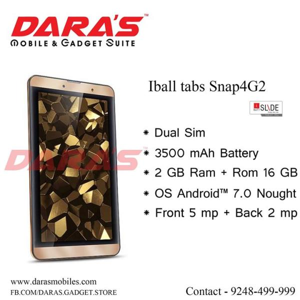 #I_Ball #Snap_4Gp #2_Gb_Ram and #16_Gb_Rom #4G_Suporrted at DARAS