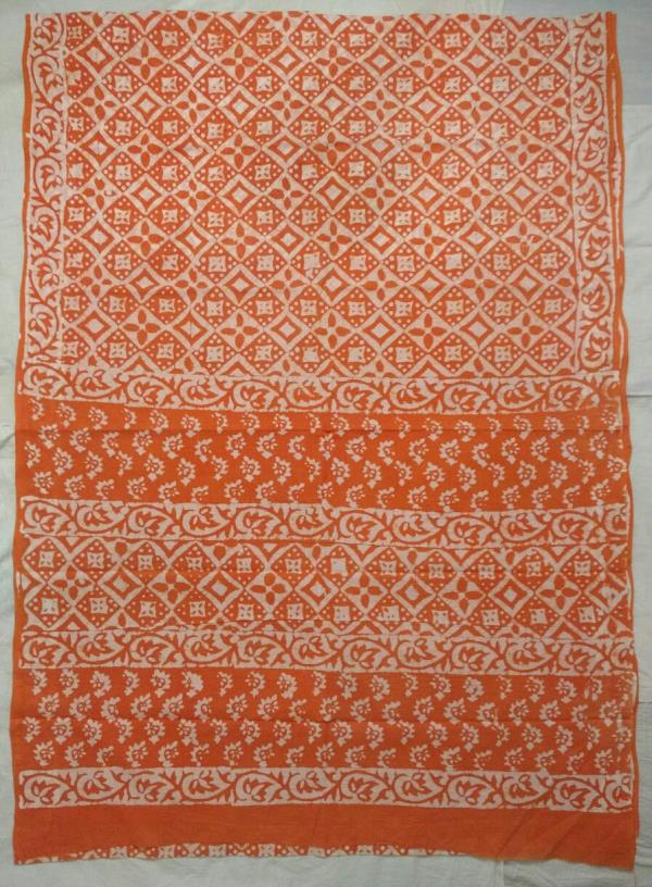 Block Printed cotton sare