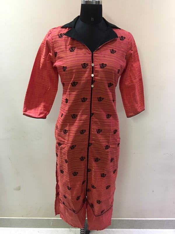 Manufacturers of jaipuri kurtis in cotton and rayon with fine stiching quality and wholesale reasonable rates.we make designer selfie style kurtis.
