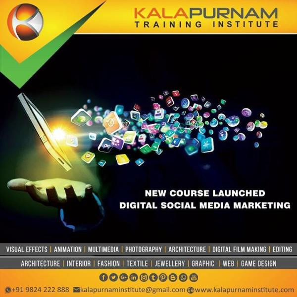New course launched.  Course --- Digital Social Media Marketing.  Kalapurnam Training Institute.  Call  09824222888.