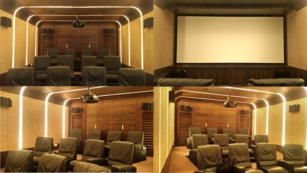 What are the components of an outstanding home theatre. 1. An Epson 4K Laser Projector such as the LS 10500 with absolute black levels, 4k enhancement and HDR. 2.  Select an appropriate screen size, in this case a 14ft anamorphic screen with acoustic transparent screen fabric. 3. The latest AV Receiver such as the Denon AVR 6400H, with 7.2.4 dolby atmos capability, 4K pass through and the latest HEOS technology. 4. For speakers we use JAMO, THX certified speakers and 2 powerful 15inch subwoofers. 5. Not to forget Dolby Atmos speakers such as the Klipsch CDT 5800c for accurate reproduction of overhead sounds. 6. Small accessories such as a Panasonic 4K blu ray player, Inakustik HDMI and speaker cables and Logitech universal av controllers. 7. Most importantly a competent team such a Viewtech, to integrate all these systems, into a simple to use and user friendly system and you have all the makings of an outstanding, world class home theatre system.