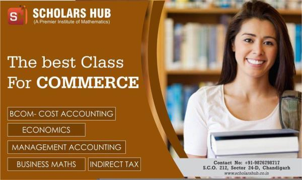 Scholars Hub Coaching Classes are available for Commerce stream for 11th & 12th Class including all major subjects like English, Maths, Accounts, Business Studies, Economics and many more. Coaching classes are available for all subjects or individual subject as well.